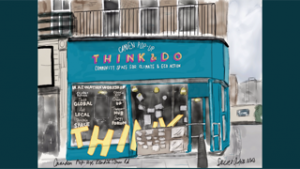 Painting of the Think&Do shop