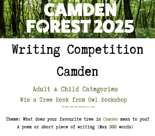 Poster for the Camden Forest witing competition